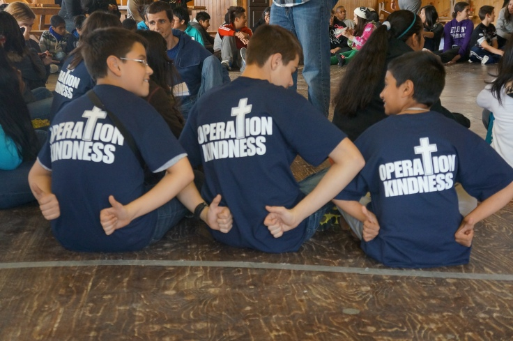 Students from St. Sylvester kick Operation Kindness into high gear!