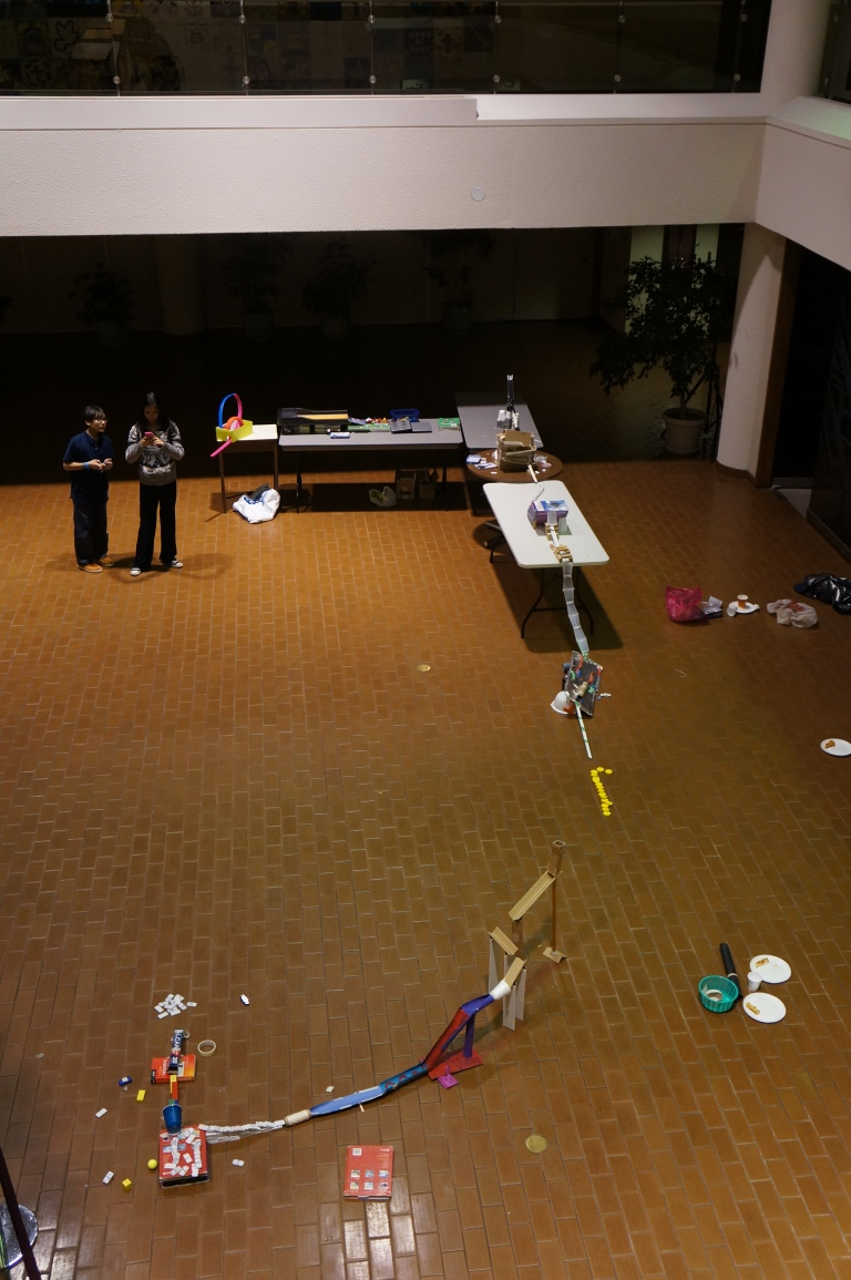 Ladies and gentlemen, I am proud to present to you the first ever super E-CSLIT Rube Goldberg Machine!!! :)