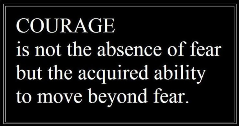 Courage Quote - beyond fear