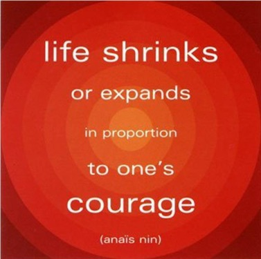 Courage Quote - Life Expands