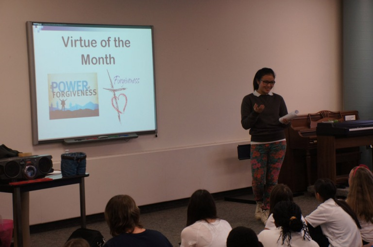 Things change at March's meeting as Theresa Hoang gives her Virtue of the Month speech.