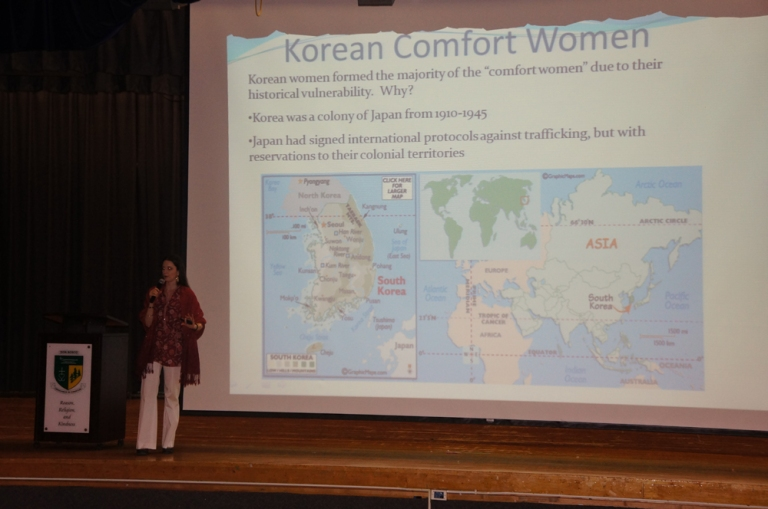 There were breakout sessions covering various topics. This one was about the history of Korean comfort women.