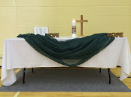 The prayer table.