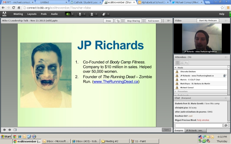 Believe it or not but that's Jp Richards! Jp Richards is the founder of Running Dead.