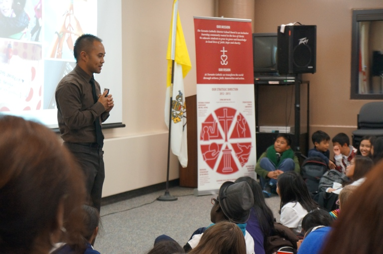 November's virtue of the month is Peace. Michael Consul gives his speech about the virtue! :)