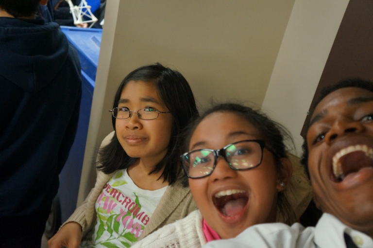 Check it out! It's the E-CSLIT team. From left to right it's: April, Snickers and Milky Way. :)