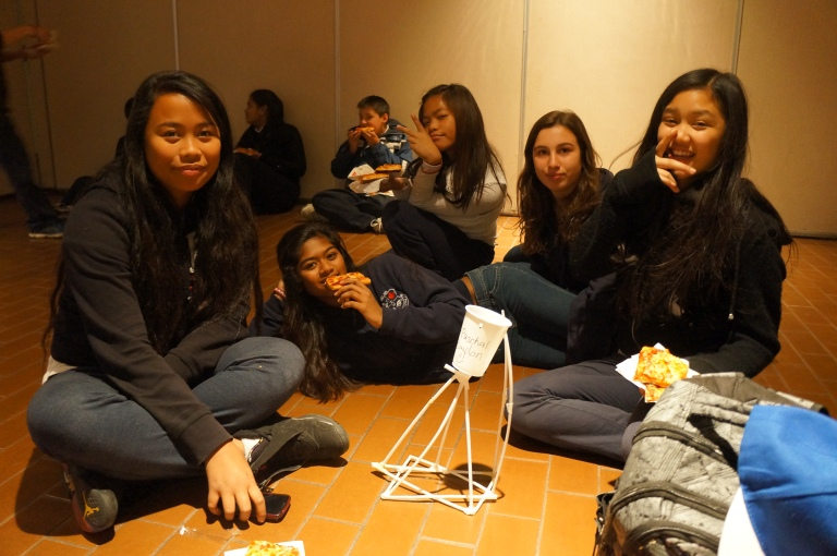Check out this school's tower and them enjoying the pizza! (Let us know where you are from)