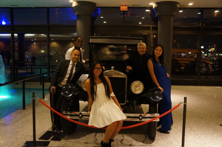 Check out their ride to the gala!