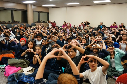 Heart's up! E-CSLIT showing everyone love.