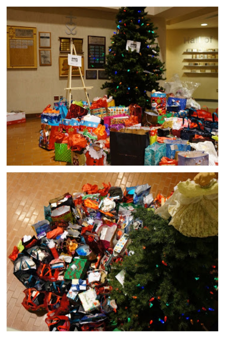 Wow! Check out E-CSLIT's Christmas tree! E-CSLIT gives back :)