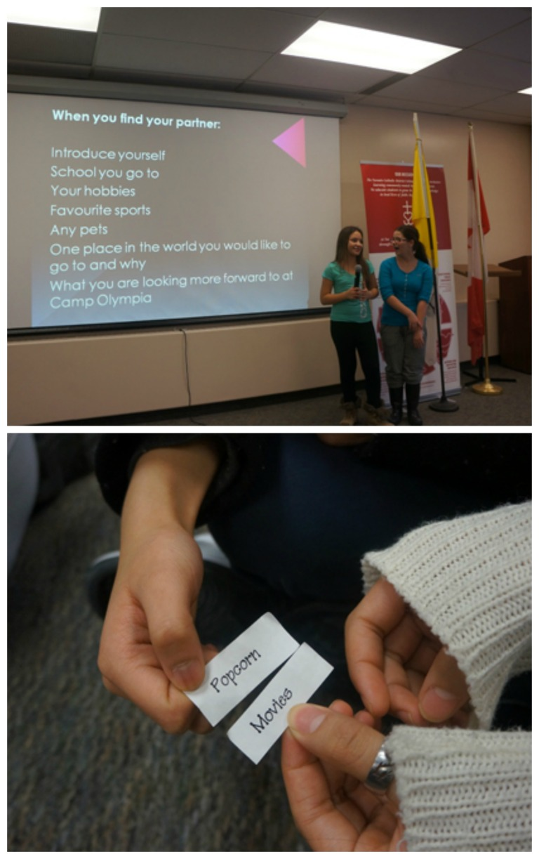 To start off the Camp O meeting, students began with an ice-breaker!