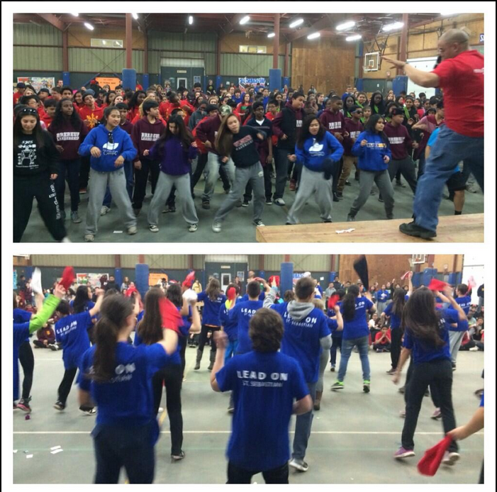 "Lip sync competition turns into massive dance party thanks 2 @MikeyMic & @_AQMJ ""dancing awakens the soul"""