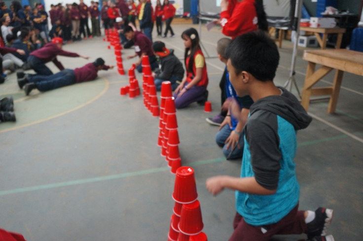 In our opening ceremonies we started off by putting some brave student leaders on a fun test.