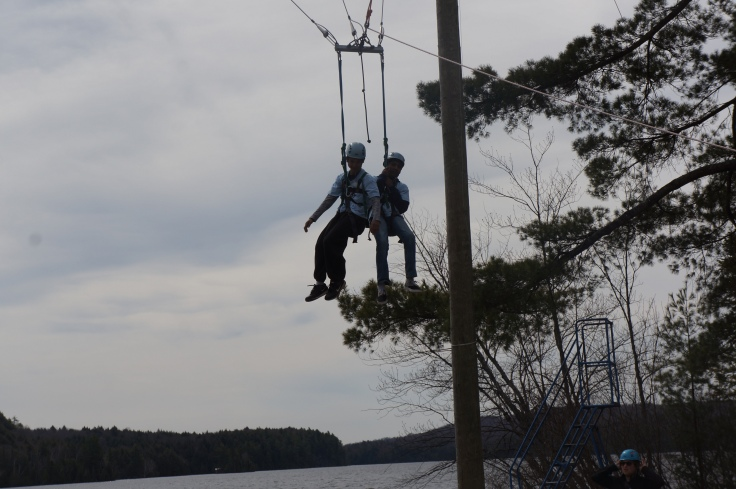 Who else got to try the GIANT SWING and the ZIP LINE? Wasn't is super cool?