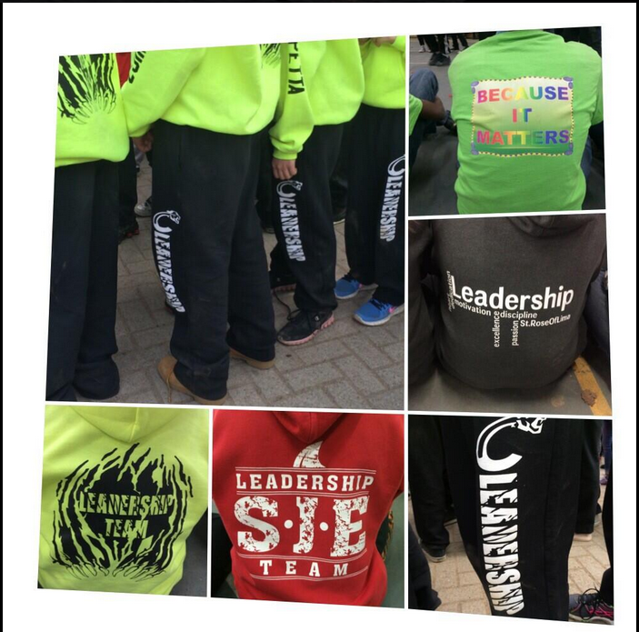 Look at how these @TCDSB schools rep their school. Congrats to St. Conrad for winning best Spirit Wear