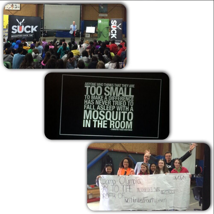 Camp 2 Ele. leaders donate $247 to help stop spread of malaria #MosquitoesSuck @davidpecklive
