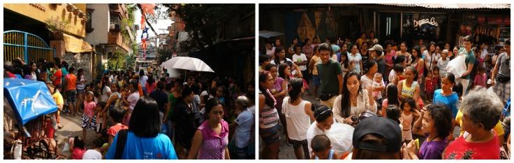 As we approached we noticed a big crowd in front of the orphanage
