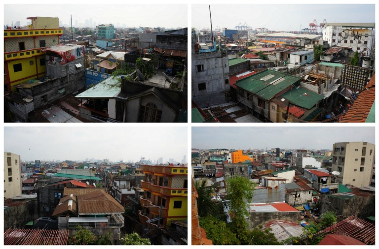 From the top floor, you can see the view of the Tondo community - our first real culture shock