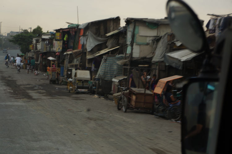 Looking outside the window we got a sense of the living conditions in this region called Tondo