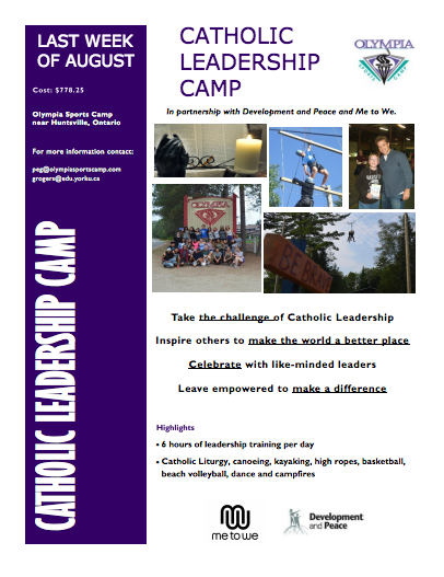 Poster - Catholic Leadership Camp