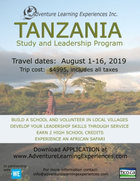 Tanzania August 2019 - flyer copy